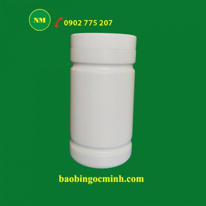 Hủ nhựa 500gr 2 ngấn đựng bột, Hủ nhựa 1kg, Muỗng nhựa.0