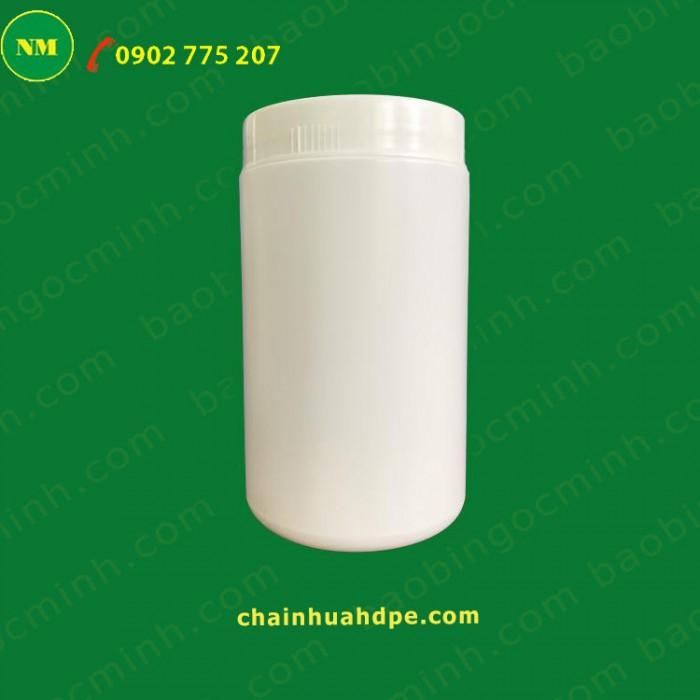 Hủ nhựa 500gr 2 ngấn đựng bột, Hủ nhựa 1kg, Muỗng nhựa.18