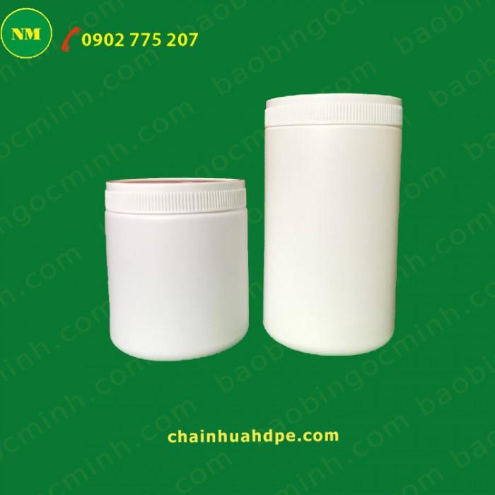 Hủ nhựa 500gr 2 ngấn đựng bột, Hủ nhựa 1kg, Muỗng nhựa.17