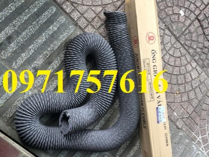 Đại lý bán sỉ bán lẻ ống gió mềm vải có lõi thép ,ống gió simili3