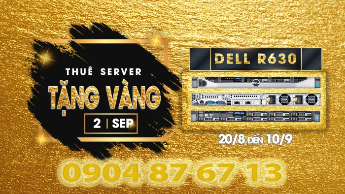 DELL POWER EDGE R630. E5-2680 v3 - RAM 32 GB - HDD 1.2TB 10K hoặc 2 x 480 GB SSD Sata0