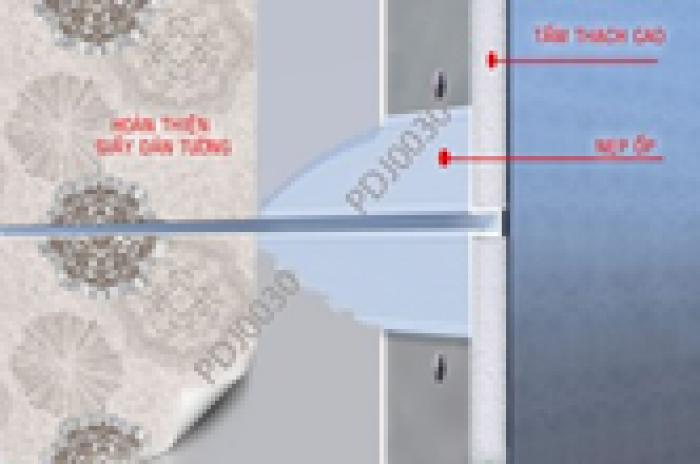 Nẹp chỉ âm trần thạch cao, nẹp tạo ron/khe phân cách giữa 2 tấm trần/cemboard.2