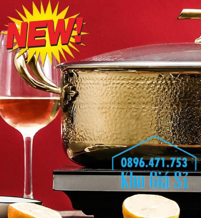 Chuyên cung cấp nồi lẩu 2 ngăn mạ vàng inox 304 cao cấp nhập khẩu