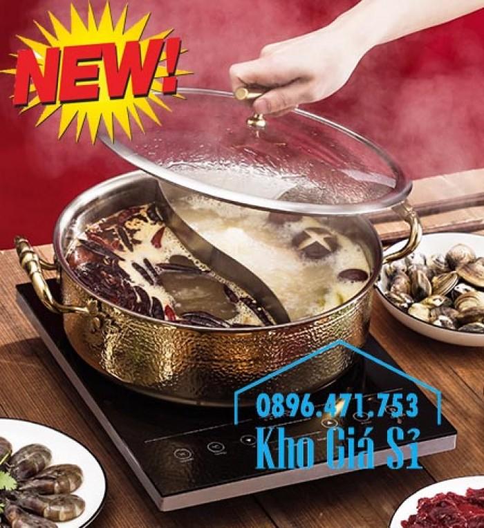 Bán nồi lẩu 2 ngăn mạ vàng cho nhà hàng Hong Kong, Nhật Bản, Hàn Quốc