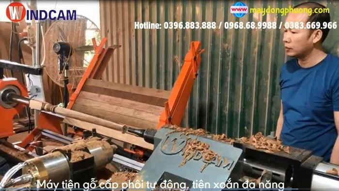 Máy tiện gỗ CNC | Máy tiện gỗ cấp phôi tự động, có chà nhám, tiện xoắn0