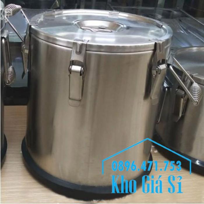 Thùng/ Nồi inox cách nhiệt, giữ nhiệt vận chuyển nước lèo, nước phở giá rẻ tại Thủ Đức