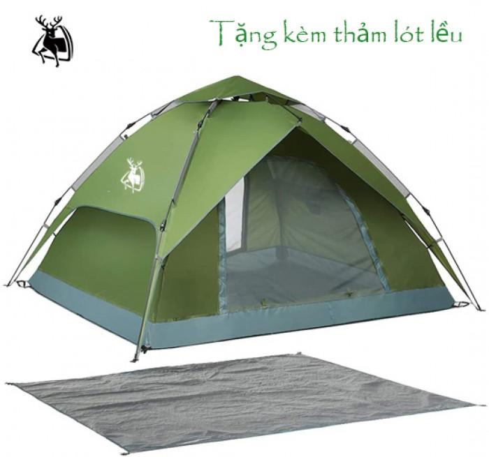 Lều dã ngoại tự bung 2 lớp cho 6 người (tặng kèm thảm lót đáy)3