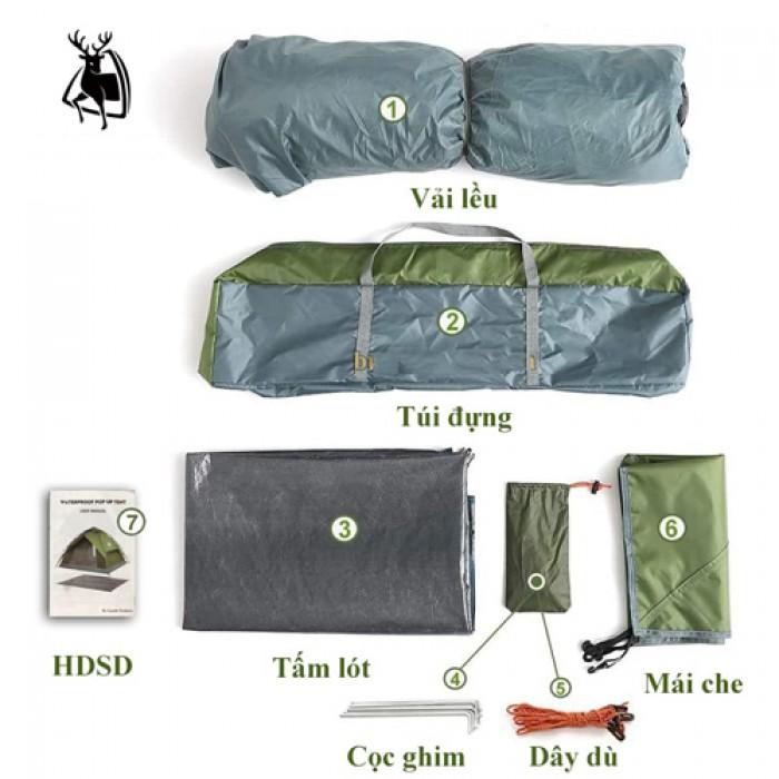 Lều dã ngoại tự bung 2 lớp cho 6 người (tặng kèm thảm lót đáy)5