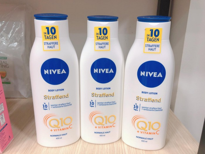 Sữa dưỡng thể chống lão hóa da NIVEA Q10 Plus Vitamin C0
