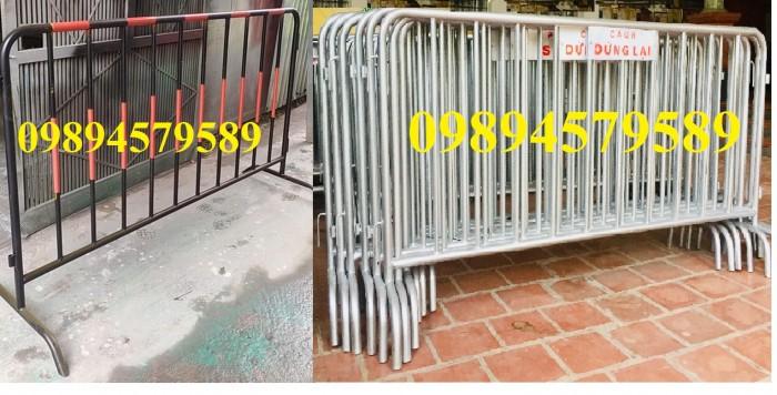 Cung cấp hàng rào di động có bánh xe, hàng rào barie có chốt khóa1