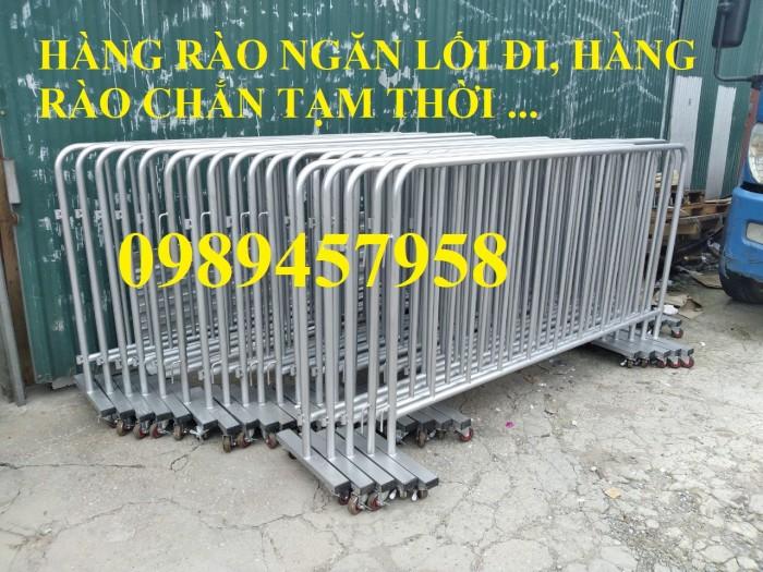 Cung cấp hàng rào di động có bánh xe, hàng rào barie có chốt khóa2