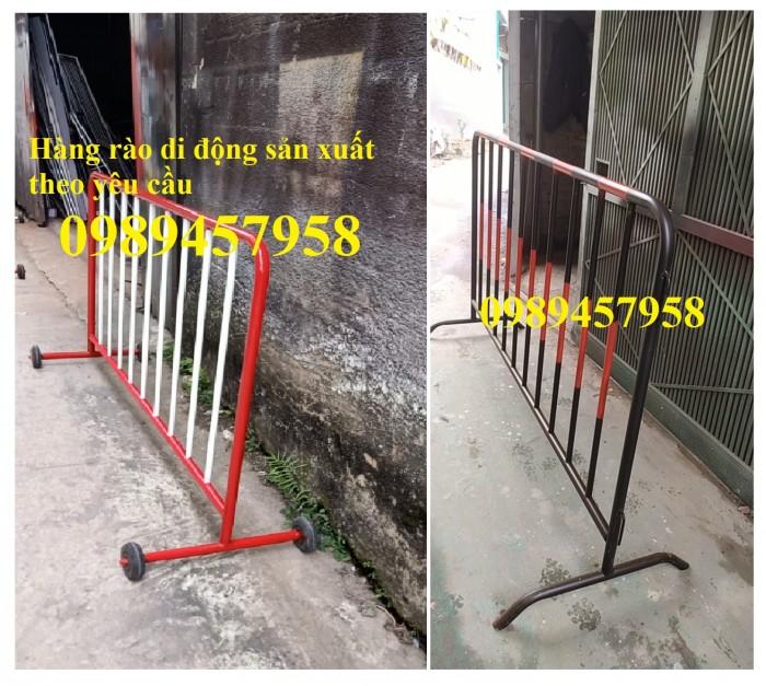Cung cấp hàng rào di động có bánh xe, hàng rào barie có chốt khóa4