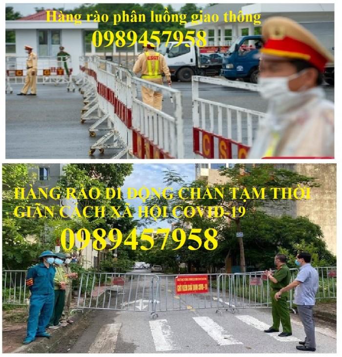 Hàng rào lan can giao thông, hàng rào cách ly bệnh viện, hàng rào siêu thị1