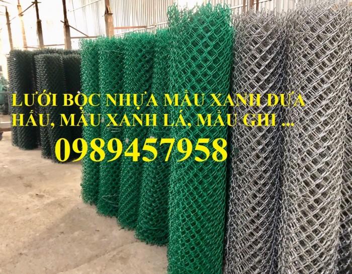 Sản xuất lưới hàng rào B40 bọc nhựa, lưới bọc nhựa mầu xanh4