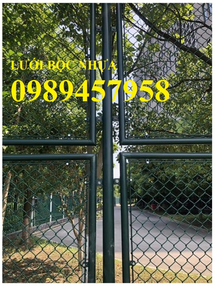 Sản xuất lưới hàng rào B40 bọc nhựa, lưới bọc nhựa mầu xanh5