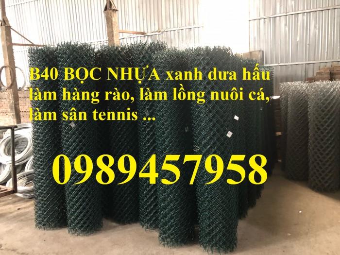 Sản xuất lưới hàng rào B40 bọc nhựa, lưới bọc nhựa mầu xanh6