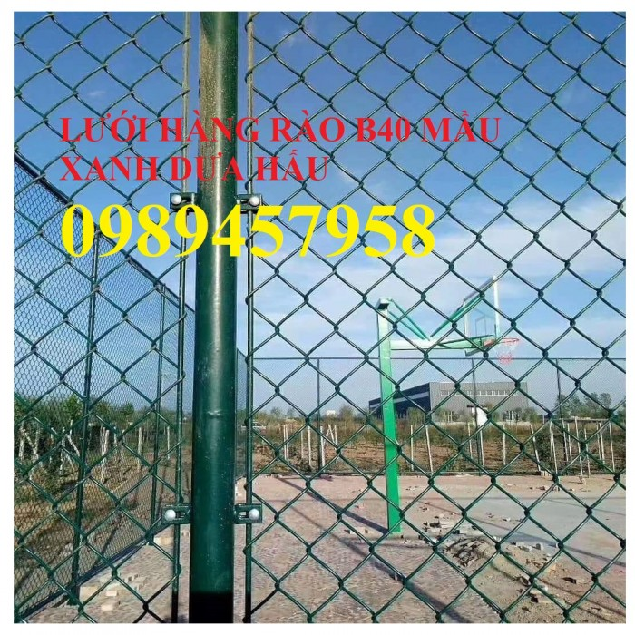Sản xuất lưới hàng rào B40 bọc nhựa, lưới bọc nhựa mầu xanh7