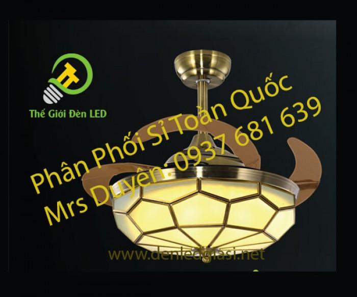 Đèn Quạt Trần Đồng ĐQĐ 56220