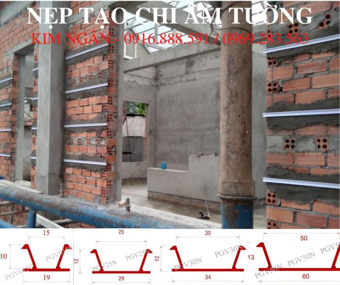 Nẹp nhựa cắt chỉ âm tường dạng chữ U, kích thước 20x12mm tại dự án nhà phố tỉnh Đồng Nai.1
