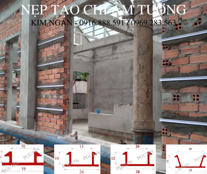 Nẹp nhựa cắt chỉ âm tường dạng chữ U, kích thước 20x12mm tại dự án nhà phố tỉnh Đồng Nai.8
