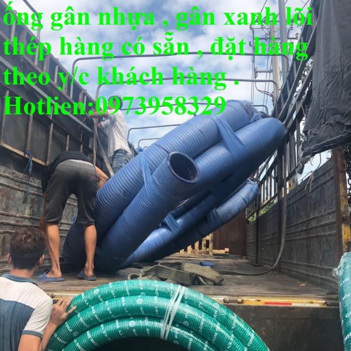 Ống gân nhựa xanh - ống gân nhựa lõi thép xanh pvc dẫn hút - xả cát D350 , D300,D250,D220, D200.D150,D168,D100,D905