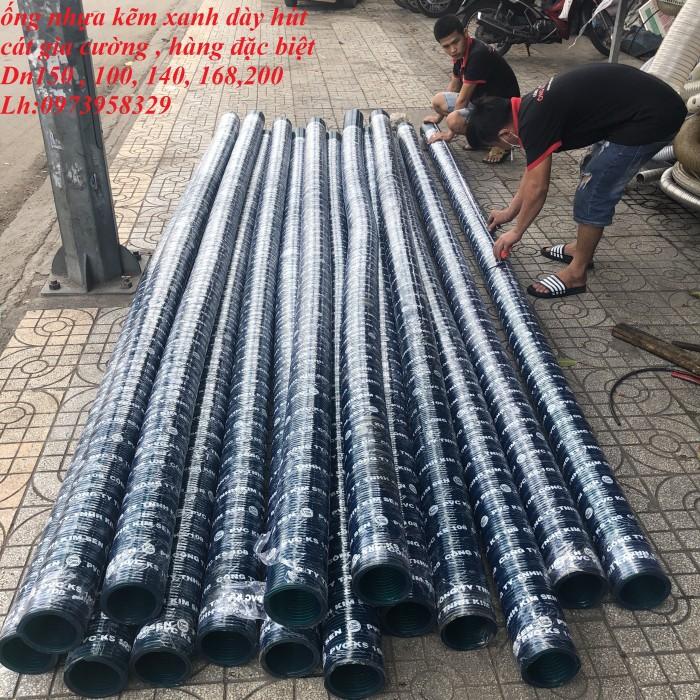 Ống gân nhựa xanh - ống gân nhựa lõi thép xanh pvc dẫn hút - xả cát D350 , D300,D250,D220, D200.D150,D168,D100,D906