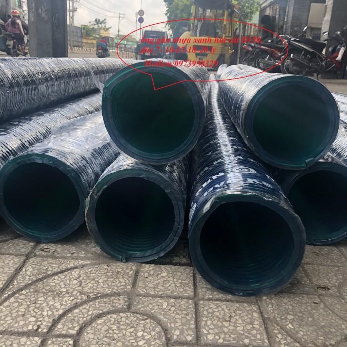 Ống gân nhựa xanh - ống gân nhựa lõi thép xanh pvc dẫn hút - xả cát D350 , D300,D250,D220, D200.D150,D168,D100,D907