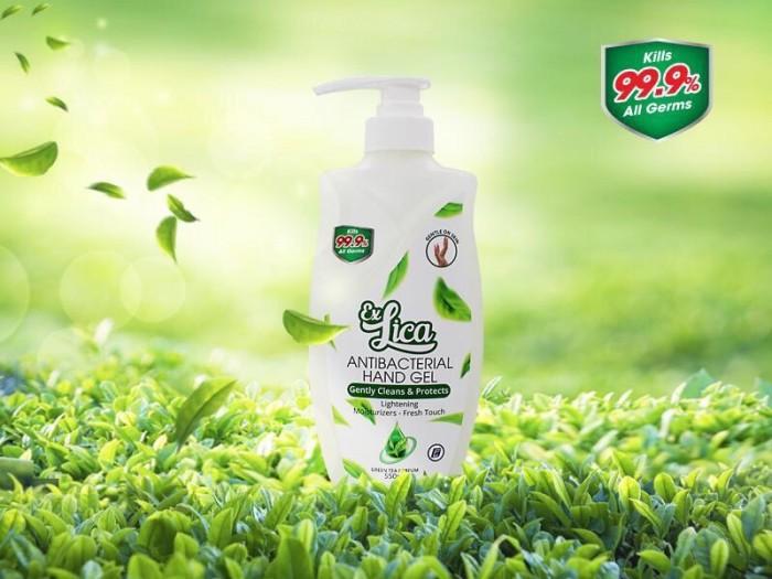 Nước rửa tay Exlica hương trà xanh 550ml