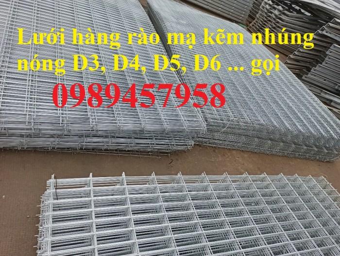 Lưới thép hàng rào mạ kẽm nhúng nóng, Lưới Mạ kẽm nhúng nóng D6 ô 100x1000