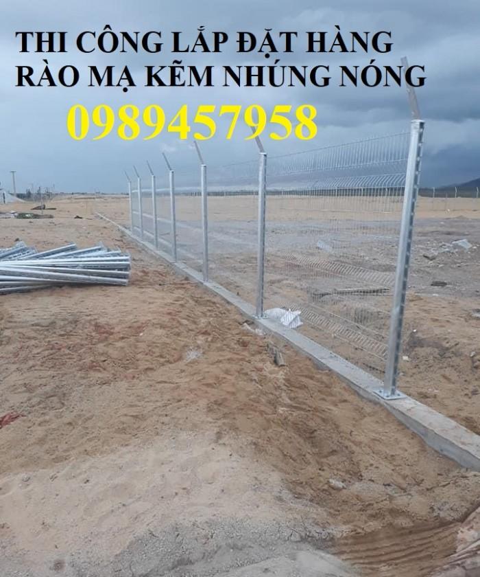 Lưới thép hàng rào mạ kẽm nhúng nóng, Lưới Mạ kẽm nhúng nóng D6 ô 100x1004