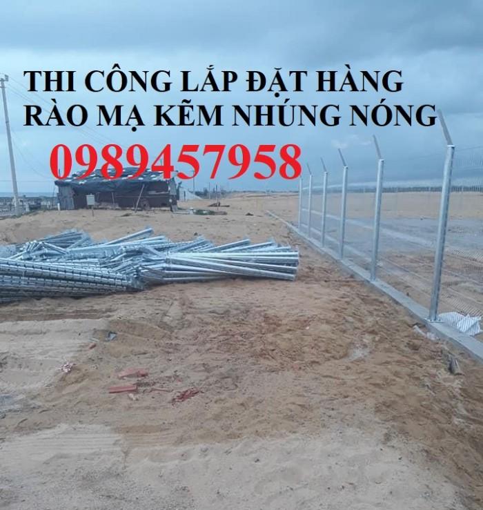 Lưới thép hàng rào mạ kẽm nhúng nóng, Lưới Mạ kẽm nhúng nóng D6 ô 100x1003