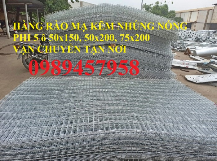 Lưới thép hàng rào mạ kẽm nhúng nóng, Lưới Mạ kẽm nhúng nóng D6 ô 100x1005