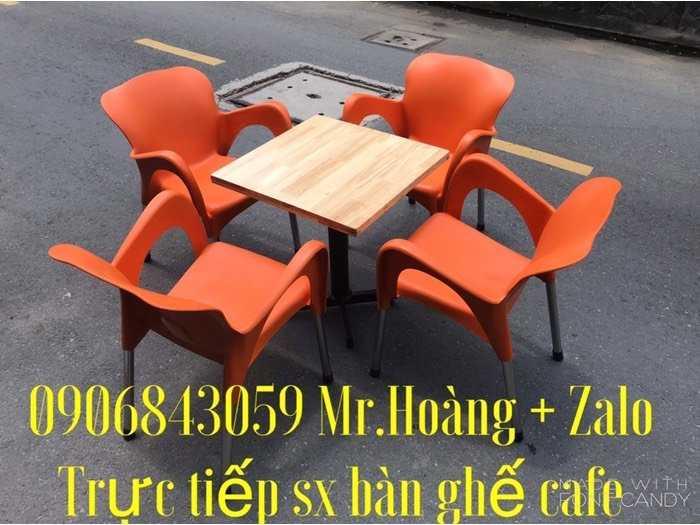Bàn ghế cafe nhựa đúc giá tại xưởng- Nội Thất Nguyễn Hoàng0