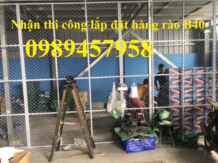 Thi công lắp đặt hàng rào B40, Cổng hàng rào và hàng rào nhà xưởng0