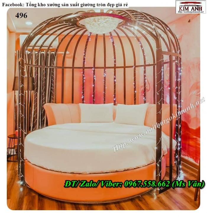 giường tròn lồng chim 1