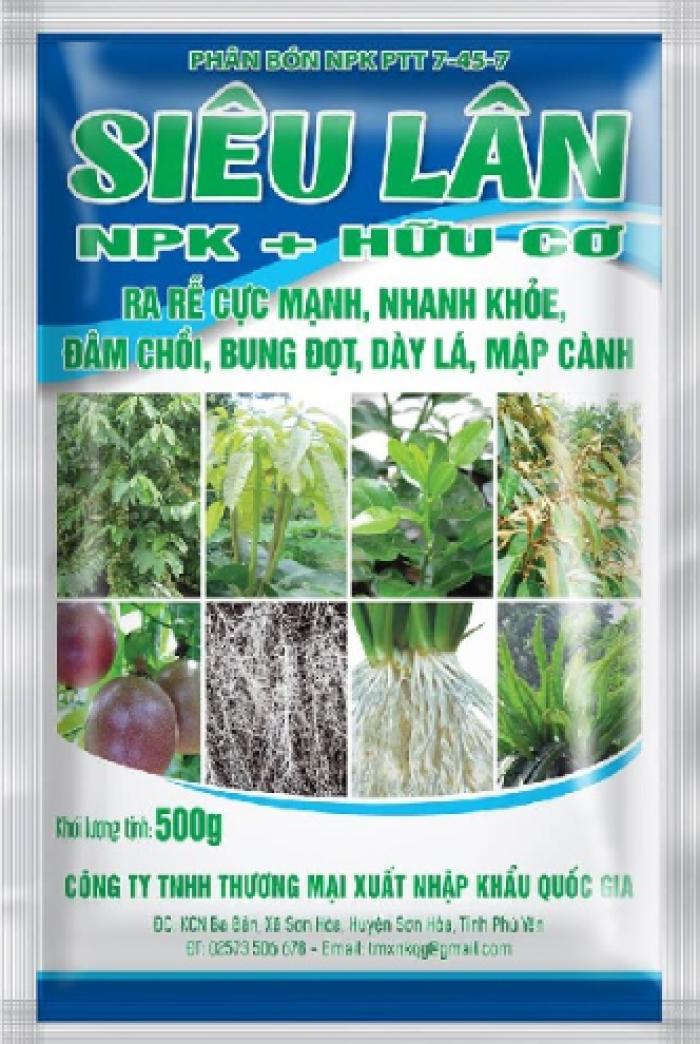 Combo 5 gói Phân bón siêu lân hữu cơ (NPK-hữu cơ)0