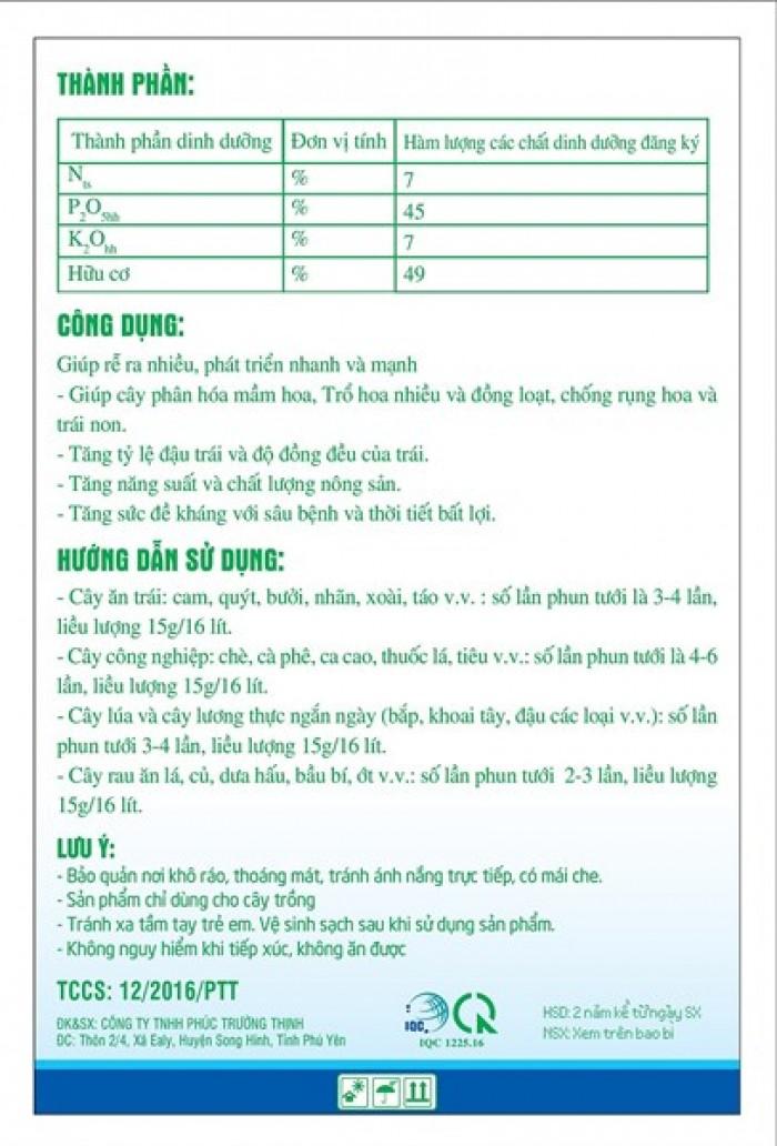 Combo 5 gói Phân bón siêu lân hữu cơ (NPK-hữu cơ)1