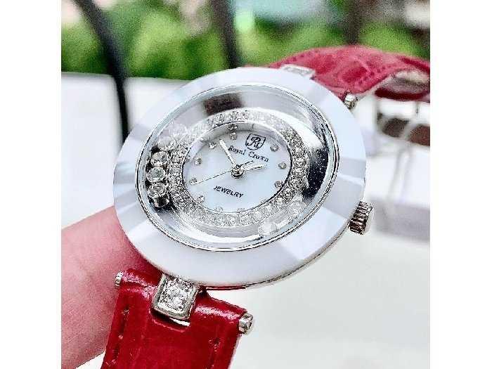 Đồng hồ nữ Royal Crown 6413 vanh ceramic