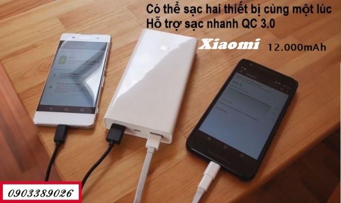 Pin dự phòng Xiaomi 20.000mAh 2 USB đầu ra giúp sạc cùng lúc 2 thiết bị