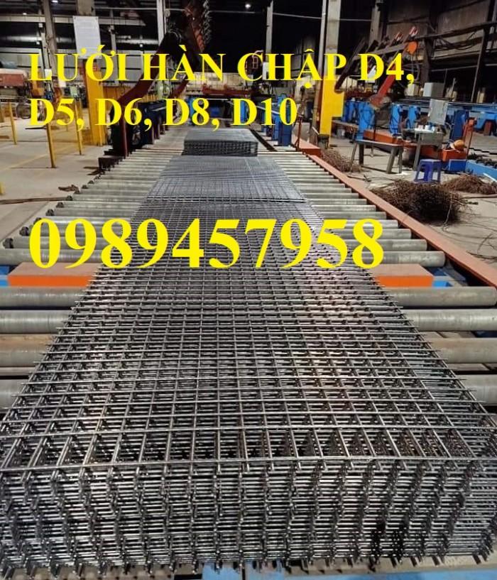 Nơi sản xuất Lưới thép phi 8 a 200x200 và Thép phi 10 a 200x200, D10 a 200x2009