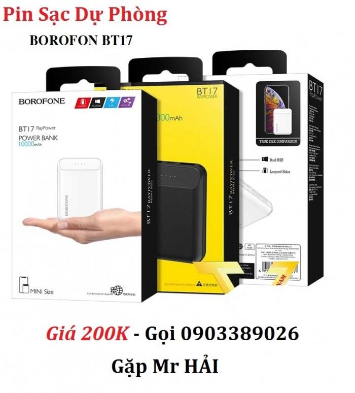 Pin sạc dự phòng Borofone BT17 Trang bị tới 3 cổng USB, với 1 cổng 5V/ 1A và 2 cổng 5V/ 2A, hỗ trợ sạc nhanh cho điện thoại, máy tính bảng hay là laptop, sạc cùng lúc cho nhiều thiết bị.