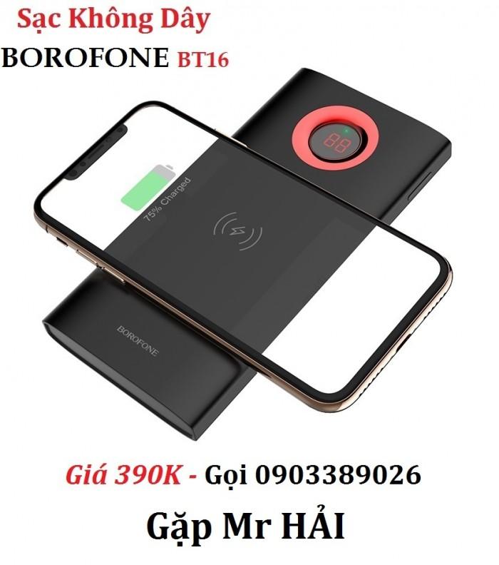 Pin dự phòng sạc không dây Borofone BT16 Dễ dàng sử dụng không dây chỉ cần đặt thiết bị cần sạc lên mặt pin là đã có thể sạc ngay