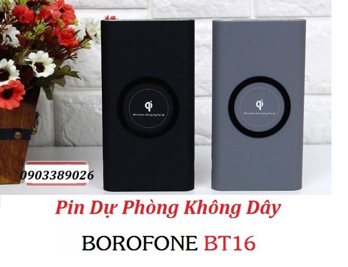 Pin dự phòng sạc không dây Borofone BT16 Sạc không dây tương thích với tất cả các điện thoại có hỗ trợ sạc không dây iPhone 10/ X/ 8/ 8Plus,Samsung Galaxy Note5/ S6/ S6 Edge/ S6 Edge+/ S7/ S7Edge/ S8/ Note8,Google Nexus 6