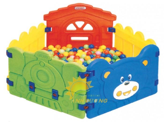 Chuyên nhà banh nhựa trong nhà dành cho trẻ em mầm non giá TỐT3