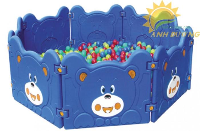 Chuyên nhà banh nhựa trong nhà dành cho trẻ em mầm non giá TỐT6