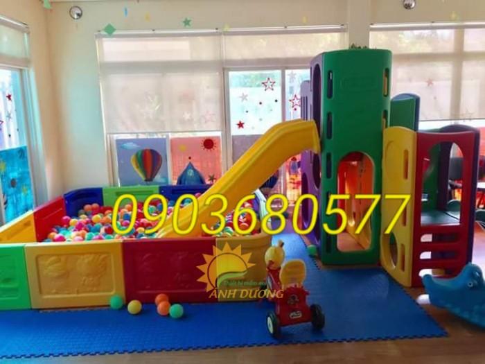 Chuyên nhà banh nhựa trong nhà dành cho trẻ em mầm non giá TỐT9