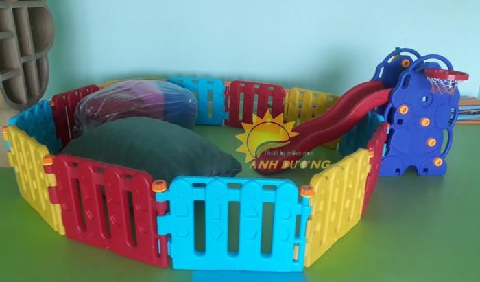 Chuyên nhà banh nhựa trong nhà dành cho trẻ em mầm non giá TỐT8