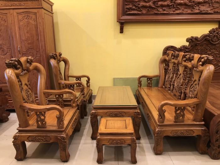 Bộ bàn ghế phòng khách tay 10 bán siêu chạy tại quận 73