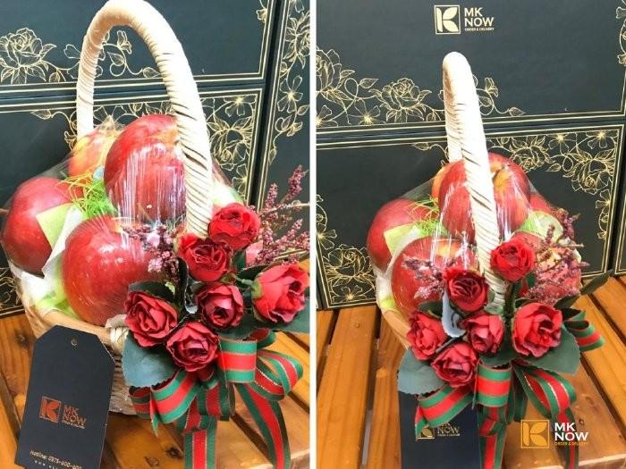 Quà 20/10 cho người yêu - táo đỏ - hoa hồng đỏ - FSNK171 - Ảnh: 11