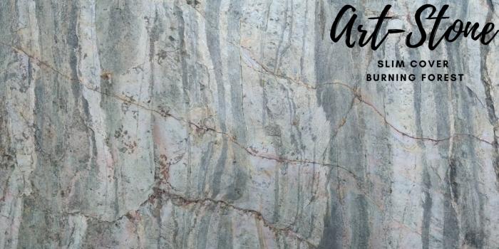 Đá ốp tường mỏng cao cấp Art Stone - Khổ 610mmx1220mm - Màu sắc: Slim Cover_Burning Forest - Đá mỏng khoảng 2mm - Vị trí sử dụng: đá ốp tường, đá ốp trần, ốp bếp, phòng ngủ, phòng khách, vách,.... - Đá ốp tường được bảo hành lên đến 5 năm chính hãng.3